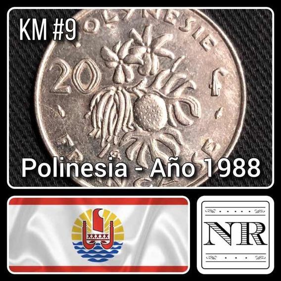 Polinesia Francesa - 20 Francos - Año 1988 - Km #9 - Oceania