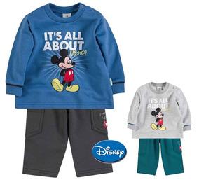 Conjunto Infantil Menino Mickey - Tam P (3 Meses) - Brandili