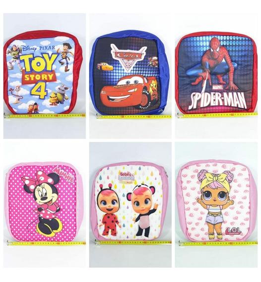 Mochilas Infantiles Con Diseño 33x29c Varios Diseños Videcom
