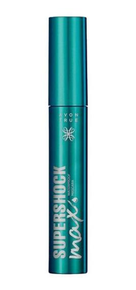 Máscara de pestañas waterproof Avon True SuperShock Max color Black 10g
