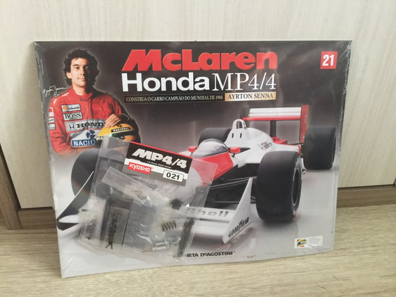 Miniatura Fascículo 21 Mclaren Honda Mp4/4 - Ayrton Senna