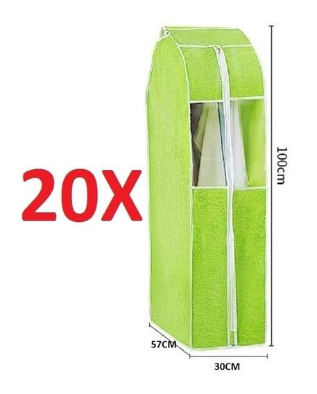 Kit 20 Organizador Porta Vestido Paleto Terno Camisa Guarda