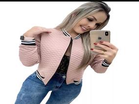 Jaqueta Feminina Bomber Jacquard Matelasse Blazer Casaquinho