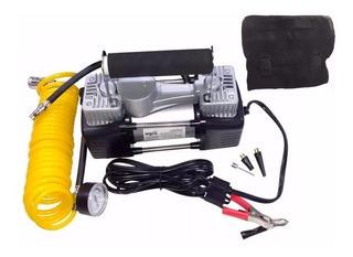 Compresor Doble Cilindro Metálico 12v Auto 4x4 Moto Cuatri