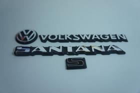 Kit Emblemas Volkswagen Vw Mala Santana S 83 À 90 + Brinde