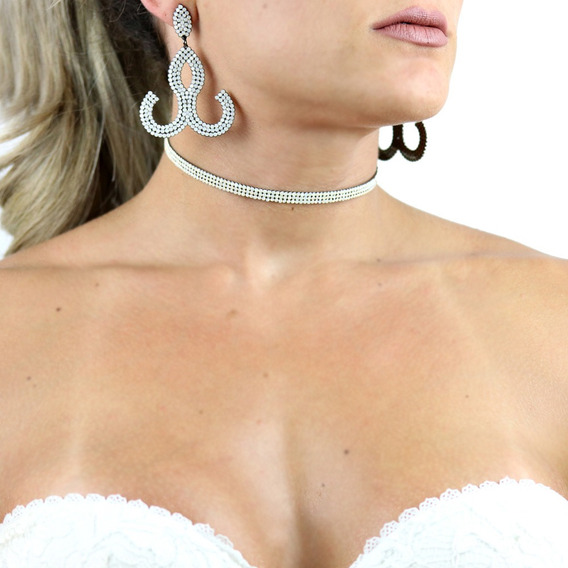 Chocker Cristal Preciosa White Opal - Cl020076