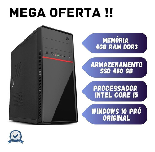 Imagem 1 de 2 de Cpu Intel Core I5 4gb Ram Ssd 480 Windows 10