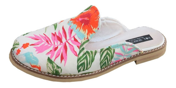 Zapatos De Mujer Suecos Floreados De Verano 41 42 43 44