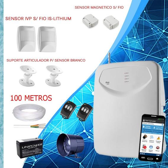 Kit Central De Alarme Completo Com Sensores Sem Fio