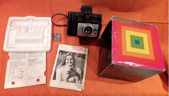 Câmera Polaroid Colorpack 80 + Caixa + Manual!