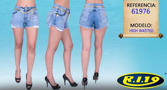 Short Jeans Feminino High Waisted Ri19 61976