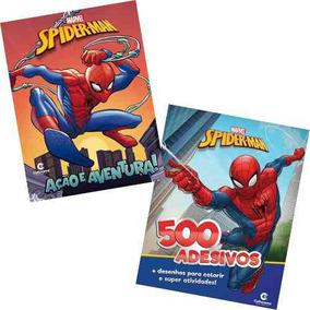 Livro Luxo Homem Aranha + 500 Adesivos Pintar E Brincar