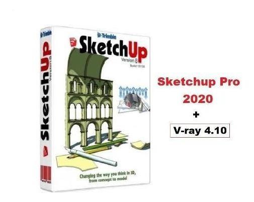 Sketchup Pro 2020 + V-ray 4.10