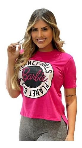 Imagem 1 de 4 de T-shirt Barbie Estampada Letreiro Planet Girls