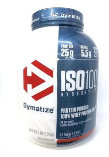 Iso 100 Proteína Hydrolyzed 5 Lbs Strawberry Dymatize.