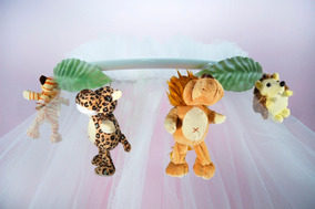 Dossel Parede Quarto Bebê Ursinhos Safari Pintado Ferro