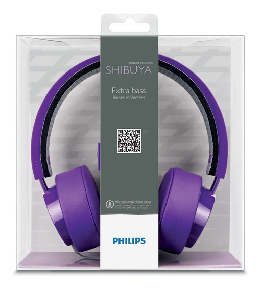 Headset Philips Shibuya Citiscape Roxo - Fone Original