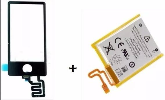 Tela Touch Vidro Apple iPod Nano 7 Preto + Bateria