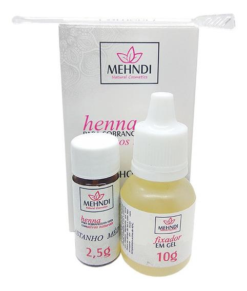 Henna Mehndi P/ Sobrancelhas 2,5g C/fixador Castanho Escuro