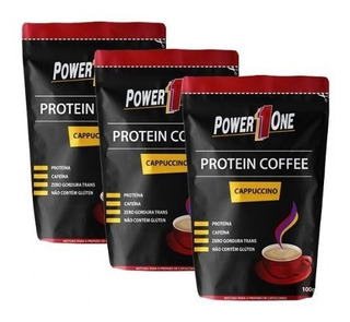 Kit 3 Protein Coffee - Capuccino 100g - Power One