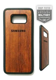 Funda Artesanal Madera Grabación Láser 3d Samsung S8/s8 Plus