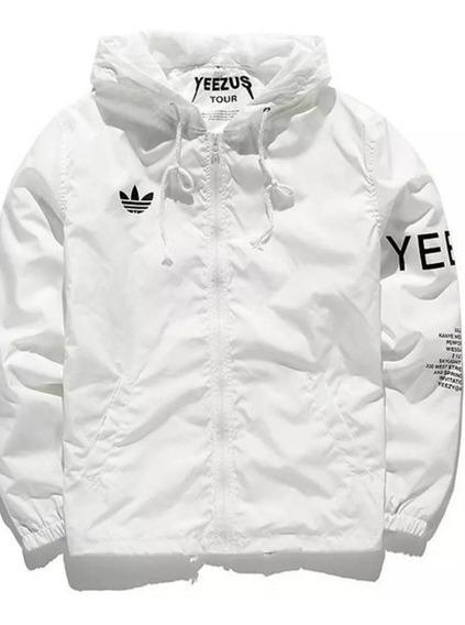 Jaqueta adidas Yezzy Windbreaker Corta Branco Kanye West