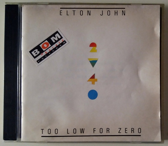 Cd Elton John - Too Low For Zero