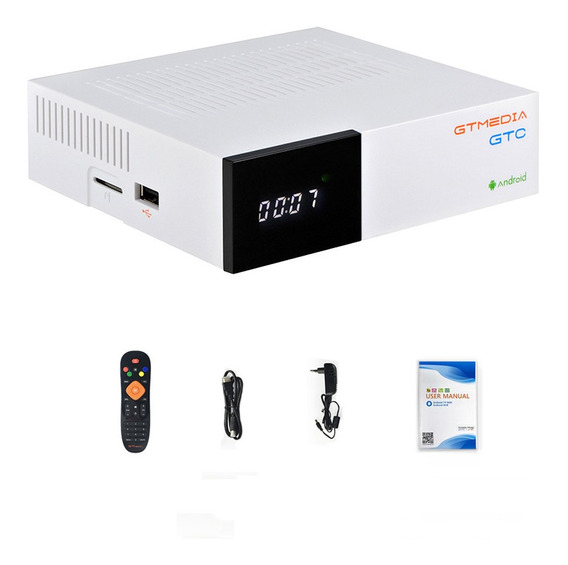 Gt Media Gtc Dvb-s2& T2& Cable& Android Tv Box Receiver