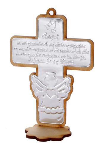 Mylin Cruz Ángel Madera Con Repujado 11.5x8x4.4cm 12pz