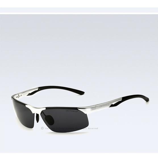 Óculos De Sol Veithdia Polarizado Uv400- Esporte Silver §