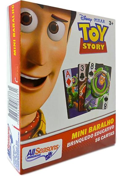 Jogo Mini Baralho Toy Story Cartonado Destaque E Brinque