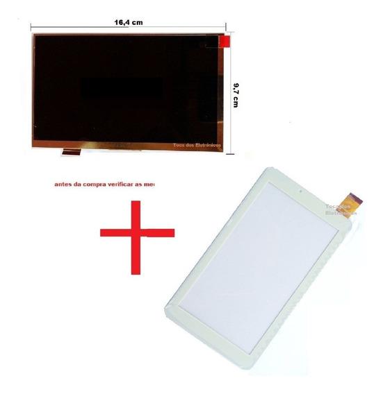 Display + Touch Tela Tablet Multilaser M7s Plus Ml-ji22 Bran