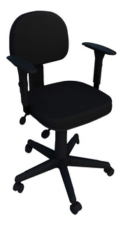 Cadeira Secretaria Giratória Back System Flex E Braço Reg.