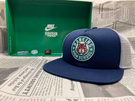 Nike X Stranger Things Gorra Hat Azul Original Y Garantizada