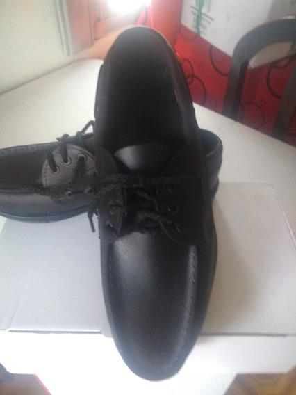 Zapato Leñador De Cuero