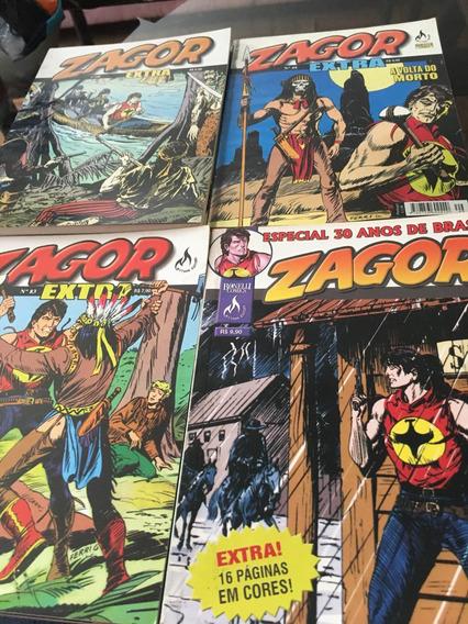 Zagor Extra Diversas Ed.mythos Perfeitas/pacote Com 4