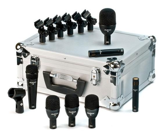 Audix Fp7 - Kit P/ Bateria Com 7 Microfones Da Série Fusion