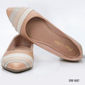 4de35381be Sapatilha Bico Fino Nude Detalhes - Sapato Feminino Barato