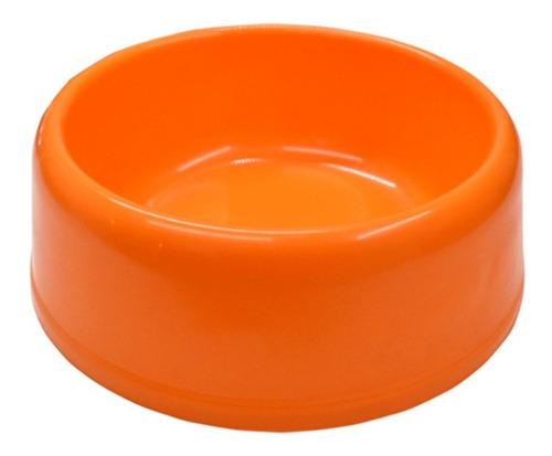 Plato Redondo Plástico Grande Comida Bebida Para Mascotas