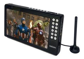 Mini Tv Digital Portátil Tela 7 Hd Sd Usb Fm Antena Exbom