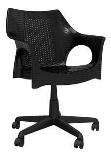 Cadeira De Escritório Secretária Relic Preta