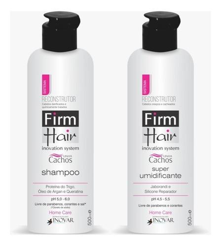 Imagem 1 de 4 de Kit Cachos Shampoo + Super Umidificante Firm Hair 500 Ml