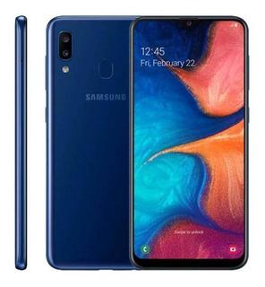Samsung Galaxy A20, 32gb, 6.4, Câmera Dupla 13mp + 5mp Azul