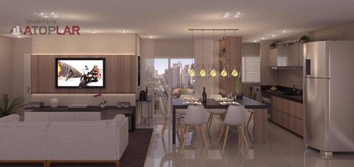 Apartamento Com 1 Suíte + 2 Dormitórios À Venda, 83 M² Por R$ 1.017.287 - Praia Brava - Itajaí/sc - Ap2131