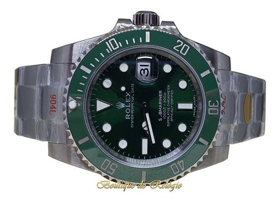 Relógio Eta - Modelo Submariner Verde Sa3135. Noob V10 904l