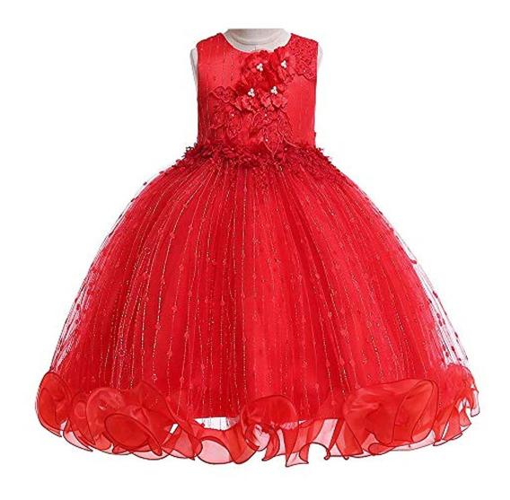 Livfme 2-8 Años Flor Niñas Vestidos Para