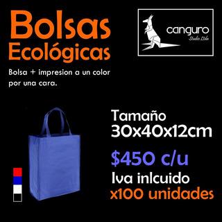 100 Bolsas Ecológicas 30x40x12cm