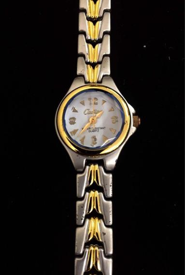 Relógio Feminino Cadina Branco Produto De Mostruário 009