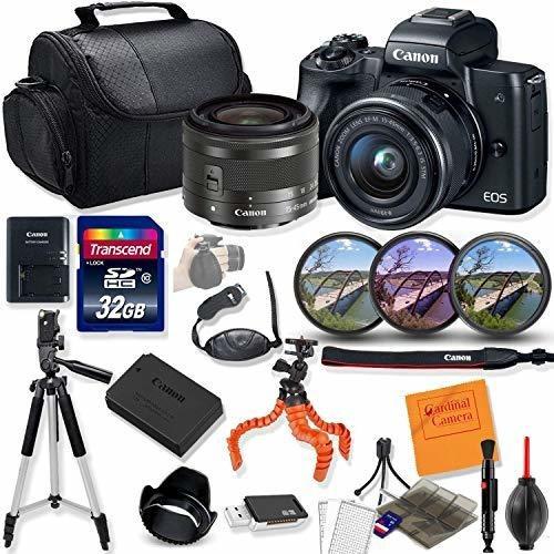 Imagen 1 de 6 de Camara Digital Canon Eo M50 Mirrorless Black With