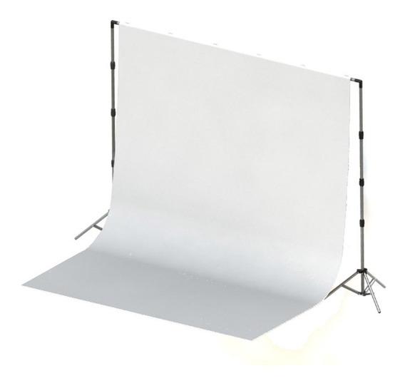 Tecido 2x3 Branco + Suporte Fundo Infinito Foto + Bolsa